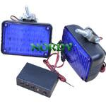 China LED Strobe light  12/24v Dual Voltage Warning light blue red color flashing bar wholesale