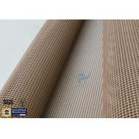 Buy cheap Brown PTFE Teflon Coated Fiberglass Mesh Fabric 600GSM 1MM Conveyor Belt Cloth from wholesalers