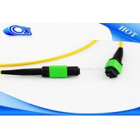 Buy cheap Customized Length MTP MPO Connector Single Mode Optical Fiber Patch Cord from wholesalers