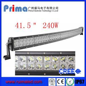 "China 41.5"" 240W Curved Led Light Bar- Double Row wholesale"