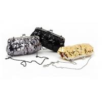 China Grey Black and Golden color sequin material Excellent design clutch bag wholesale wholesale