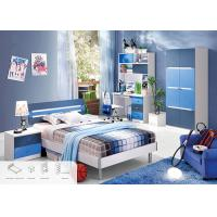 China Blue Color Environmental Paint Kids Bedroom Furniture Sets For Boys , Easy To Assembly wholesale