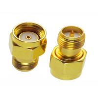 China Gold Plating RF Coaxial Connector SMA Male to Female Adapter 50 Ohm 1.9 VSWR wholesale