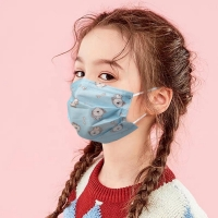 China Hot sale OEM 3 layers reusable kid disposable cartoon printing sterile children medical face mask wholesale
