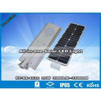 China Hitechled 20W Smart All-in-one Solar LED Street Light | Farolas Solares Todo-en-uno wholesale