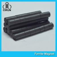 China Hard Cylinder Ferrite Magnet For Rotors / Fridge SGS RoHS Certification wholesale