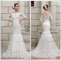 China CH1844 Newest Arrival Beautiful Lace Mermaid Off Shoulder Long Sleeve Wedding Dresses 2015 wholesale