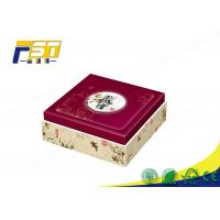China Custom Cardboard Wine High End Packaging Boxes , Red Mooncake Packaging Box on sale