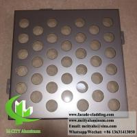 Quality Perforated Aluminum panels for building skin facade cladding PVDF metallic color for sale
