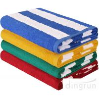 "China Stripe Cotton Bath Towels Plain Woven 30 "" X 60 "" High Absorbency For Swimming wholesale"