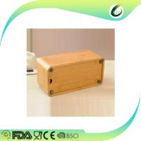 China Home decoration table desk bamboo tissue box wholesale