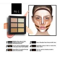 China OEM Hot Sale Makeup Contour Palette Face Cream 6 Color Correcting Concealer wholesale