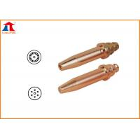China Copper Acetylene Propane Gas Cutting Nozzle With Cutting Thickness Reach To 300mm on sale