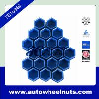 Universal 17mm Car Wheel Nut Cover Bolt Cap x 20 pcs Blue with Removal Tool