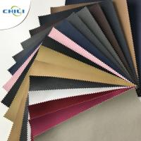 China Lightweight Plastic Leather Upholstery Fabric Special Edge Design Non Woven wholesale