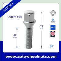 China Colored Chrome Wheel Lug Bolts With Thread Size M12 , M14 , Length 75mm wholesale