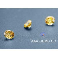 China Round Yellow Sythetic Colored Moissanite For Moissanite Vintage Engagement Rings wholesale
