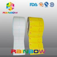 China No Print White / Colorful Blank Paper Roll Plain Self Adhesive Label With Custom Size wholesale