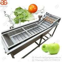 China High Quality Professional Cherry Tomato Bubble Washing Grapes Washer Leafy Vegetable Fruit Cleaning Machine on sale