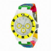China Sports Watch with ABS Plastic Case and Colorful Plastic Strap wholesale