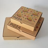 China Brown Kraft Paper Ripple Pizza boxer Burger boxes Custom Logo Printed in your size packaging boxes takeaway wholesale