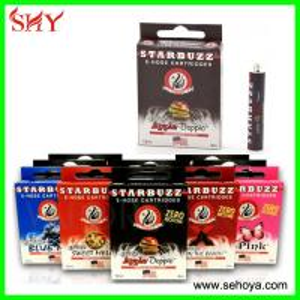 China Different taste Starbuzz e hookah e-hose cartridge/Square mini e hose e hookah cartomizer wholesale