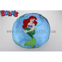 China Round Stuffed Pillow with Embroidery Little Mermaid Girl on sale