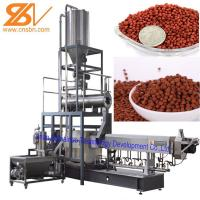 China Aquatic Floating Fish Feed Pellet Machine Double Screw Extruder Craft wholesale