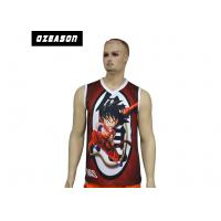China Customized Logo Polyester Tank Tops Plus Size Digital Sublimation Quick Drying on sale