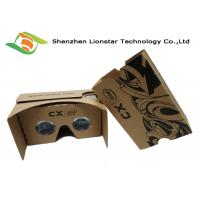 China 15*6.5*8.5cm Cardboard VR Glasses For Movies Video Game / 3.5-6.0 Inch Phone on sale