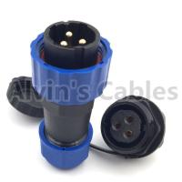 China SD20 TP ZM 2 - 14 Pin Plastic Electrical Connectors Male Plug Female Socket Connector on sale