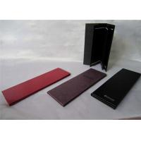 China Foldable Restaurant Menu Books , PU Leather Drink Menu Covers Black Color wholesale