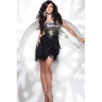 China Black Feather Prom Dresses wholesale