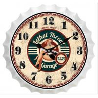 China New Sale Metal Beer Cap Wall Clocks Latest Antique Beer Bottle Cap Novelty Wall Clock Home Wall Art Decoration Custom wholesale