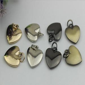 China 20mm Small love heart shape nickel color metal handbag hanging ornament wholesale