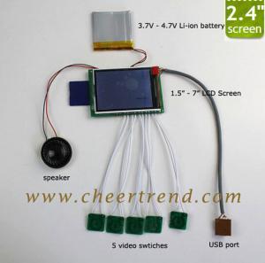 China 2017 High quality MINI 2.4 inch Video greeting card module / video brochure module / video module on sale