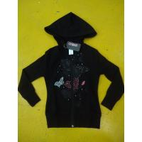 China Little Girls Zip Up Hoodies Long Sleeve Cotton French Terry Zip Hoodie Butterfly Print wholesale