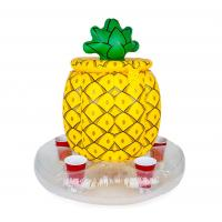 China Bright Yellow Inflatable Drinks Cooler Entertainment Pineapple PVC Drink Cooler wholesale