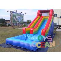 China Red Rentals Big Inflatable Water Slide Rentals For Kids Waterproof Durable on sale