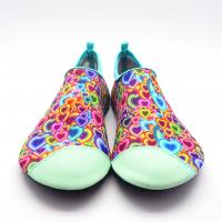 China Fashionable Non Slip Aqua Shoes For Water Activities / Beach Wet Shoes PVC Outsole on sale