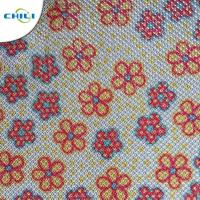 China Shinnning Synthetic Leather Fabric Floral 0.7±0.1mm Thickness Precision Cutting wholesale