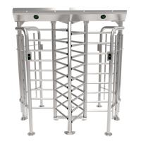Quality ZKTECO FHT2300D high quality 304 stainless steel full height turnstile security for sale