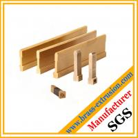 Chinese OEM manufacturer copper alloy brass electrical parts extrusion profiles Manufactures