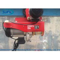China Single Phase 2000kg Electric Wire Rope Hoist , Portable Pa Mini Electric Hoist Pulling wholesale
