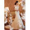 China White A Line Style Wedding Dresses / Custom Made Ivory Lace Wedding Dress wholesale