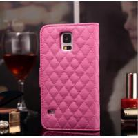 China 2015 foldable flip leather case cover for samsung galaxy S5 with card slots and stents wholesale