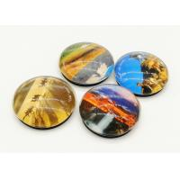 China Eco Friendly Round Refrigerator Magnets 40mm / 50mm Exclusive Artwork Design wholesale