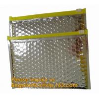 China Promotional inner package shipping slider bubble bag,Plastic clear bubble bag with zip lock slider zipper bagease pack wholesale