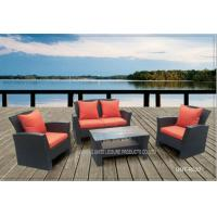 Comfortable Outside Patio Seating Sets With Cushion PE Wicker Modern Style Manufactures