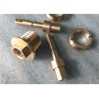 China Fabrication Precision Brass Precision Parts , Knurling Brass Forging Parts wholesale